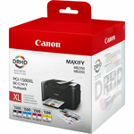 Canon 9182B004 (PGI-1500 XLCMYBK) Ink cartridge multi pack, 34ml + 3x12ml, Pack qty 4