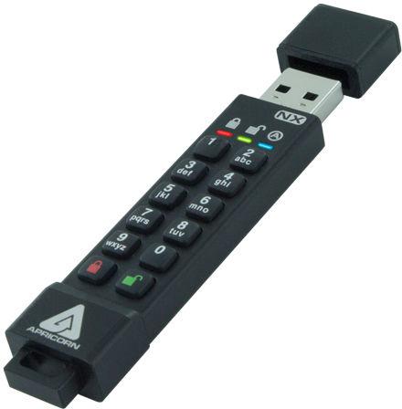 Apricorn ASK3-NX-64GB USB flash drive USB Type-A 3.2 Gen 2 (3.1 Gen 2) Black
