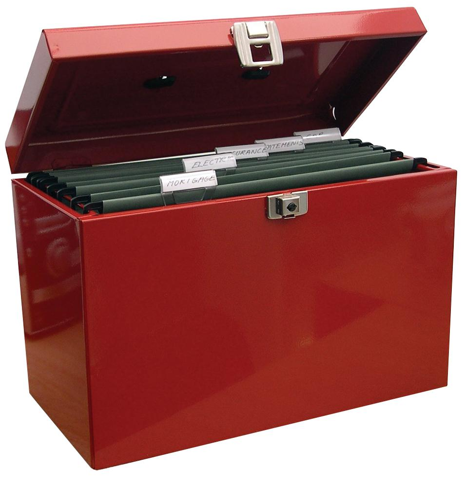 Cathedral Products Value Cathedral Metal File Box Foolscap Red