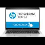 "HP EliteBook x360 1030 G3 Silver Hybrid (2-in-1) 33.8 cm (13.3"") 1920 x 1080 pixels Touchscreen 8th gen Intel® Core™ i7 8 GB LPDDR3-SDRAM 256 GB SSD Windows 10 Pro"