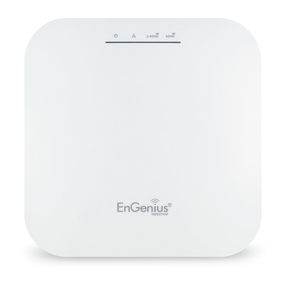 EnGenius EWS377AP WiFi 6 Managed AP Indoor Dual Band WiFi6 11ax AX1800 1148+2400Mbps 4T4R 2.5GbE PoE.at 3dBi ia