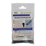 Evo Labs 2.5X100MM BLACK cable tie Nylon 100 pc(s)
