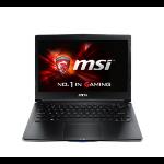 "MSI Gaming GS30 2M(Shadow)-060UK 2.5GHz i7-4870HQ 13.3"" 1920 x 1080pixels Black"