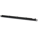 StarTech.com Panel de Parcheo de 24 Puertos RJ45 Cat5e 110 - 0,5U Montaje en Rack - Patch Panel