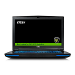 "MSI Workstation WT72 6QL-615UK 2.6GHz i7-6700HQ 17.3"" 1920 x 1080pixels Black Mobile workstation"
