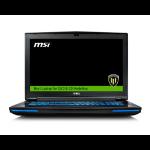 "MSI Workstation WT72 6QL-615UK 2.6GHz i7-6700HQ 17.3"" 1920 x 1080pixels Black"
