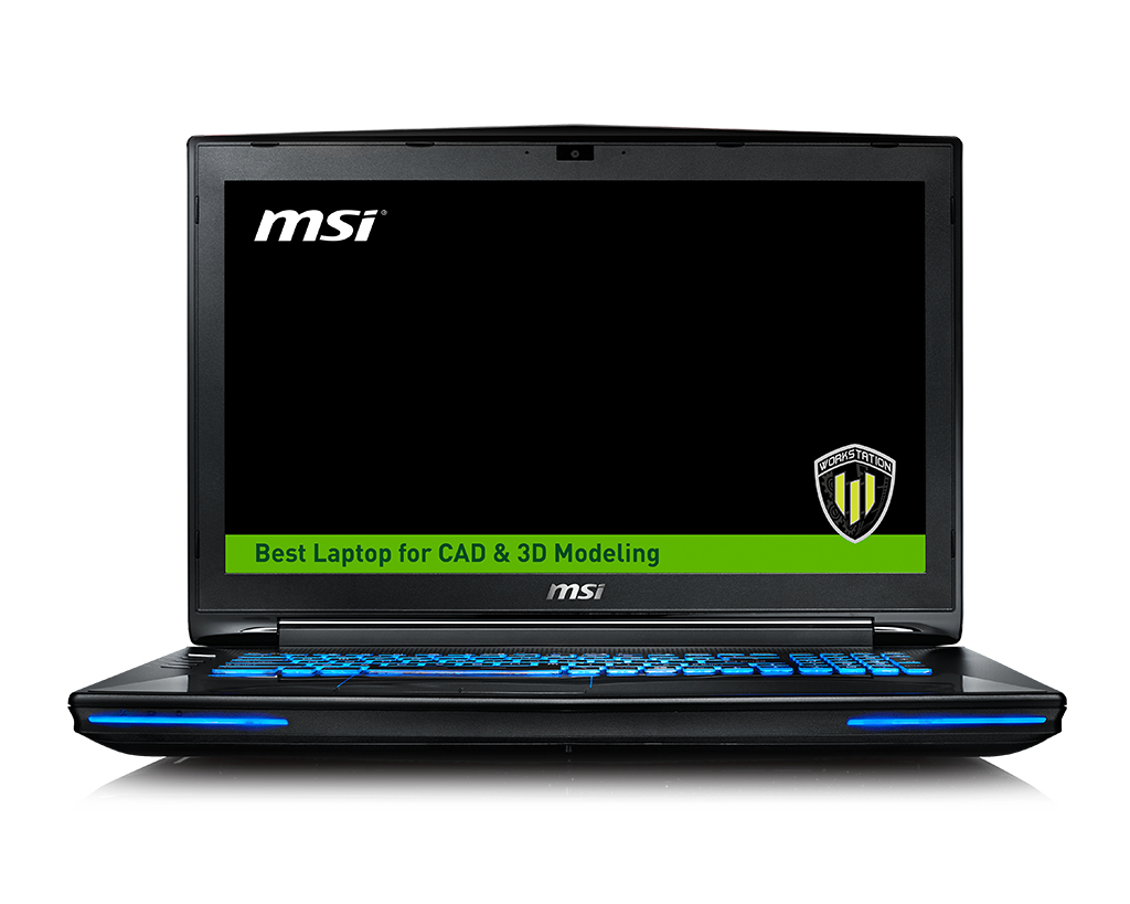 "MSI Workstation WT72 6QL-615UK 2.6GHz i7-6700HQ 17.3"" 1920 x 1080pixels Black"
