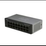 Cisco SG110-16 Unmanaged L2 Gigabit Ethernet (10/100/1000) Black