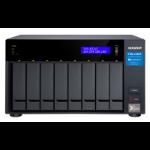 QNAP TVS-872XT-i5-16G 32TB (Seagate Exos) 8-Bay NAS; Intel core i5-8400T 6-core 1.7 GHz Processor(max 3.3 Tower Ethernet LAN Black