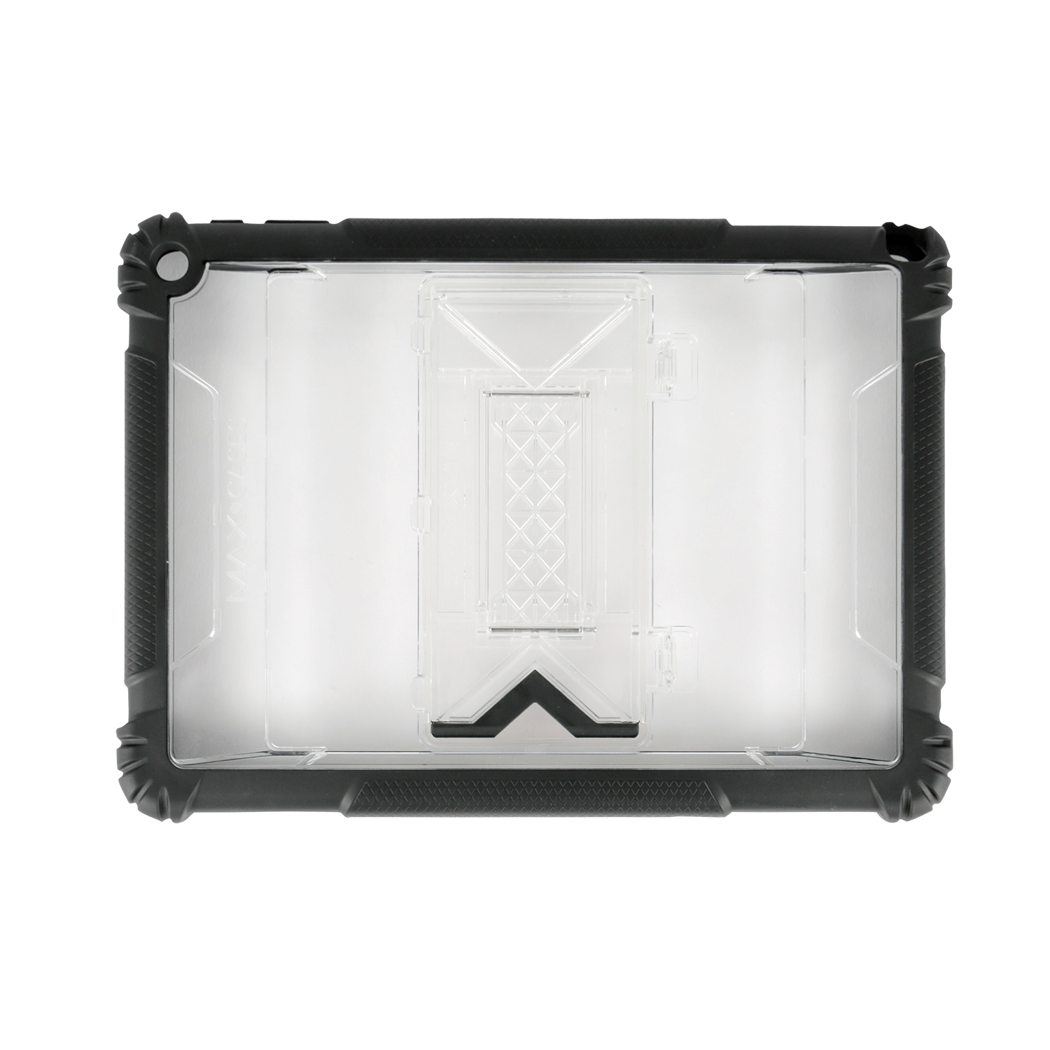 Max Cases Shield Extreme - Back Cover For Tablet - Silicone, Polycarbonate, Tpe - Clear