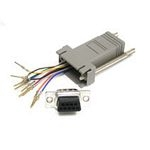 C2G 10-pin RJ45/DB9F Modular Adapter 10-pin RJ45 DB9 FM Grey cable interface/gender adapter