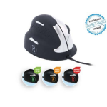 R-Go Tools R-Go HE Break Mouse, Ergonomic mouse, Anti-RSI software, Medium (Hand Size 165-185mm), Left Handed, Wired