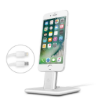 TwelveSouth HiRise Deluxe for iPad mini 4 iPad Pro 9.7'' iPhone 5 5s 6 6s 7 7 Plus 2 mobile device dock station Tablet/Smartphone Silver