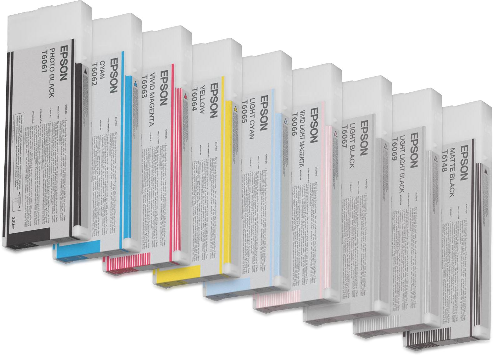 Epson Cartucho T606900 gris claro