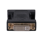 Cablenet DVI-I Female - Female (Gold) 24+5 Dual Link Black Adaptor