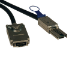 Tripp Lite External SAS Cable, 4 Lane - mini-SAS (SFF-8088) to 4xInfiniband (SFF-8470), 1M