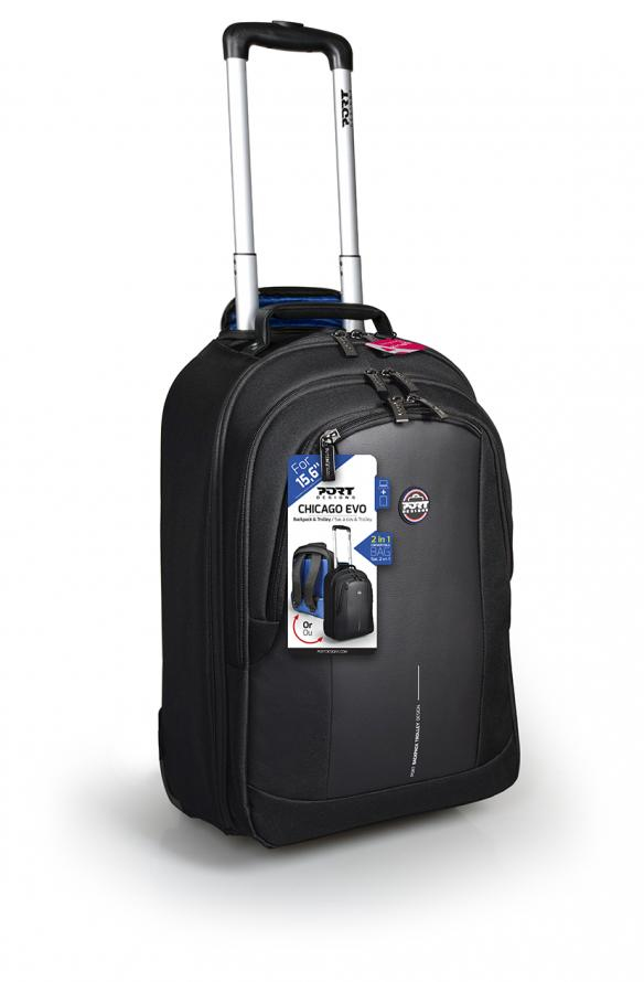 "Port Designs CHICAGO EVO notebook case 39.6 cm (15.6"") Trolley case Black 170231"