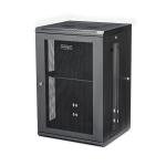 "StarTech.com 18U 19"" Wall Mount Network Cabinet - 16"" Deep Hinged Locking IT Network Switch Depth Enclosure - Assembled Vented Computer Equipment Data Rack w/Shelf & Flexible Side Panels"