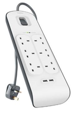 Belkin BSV604AF2M 6AC outlet(s) 2m White surge protector