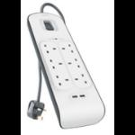 Belkin BSV604AF2M surge protector 6 AC outlet(s) White 2 m