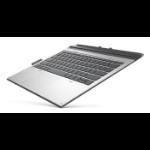 HP L29965-041 mobile device keyboard QWERTZ German Silver