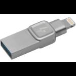 Kingston Technology Bolt Duo, 32GB USB flash drive USB Type-A / Lightning 3.0 (3.1 Gen 1) Silver