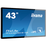 "iiyama TF4338MSC-B1AG Interactive flat panel 42.5"" LED Full HD Black signage display"
