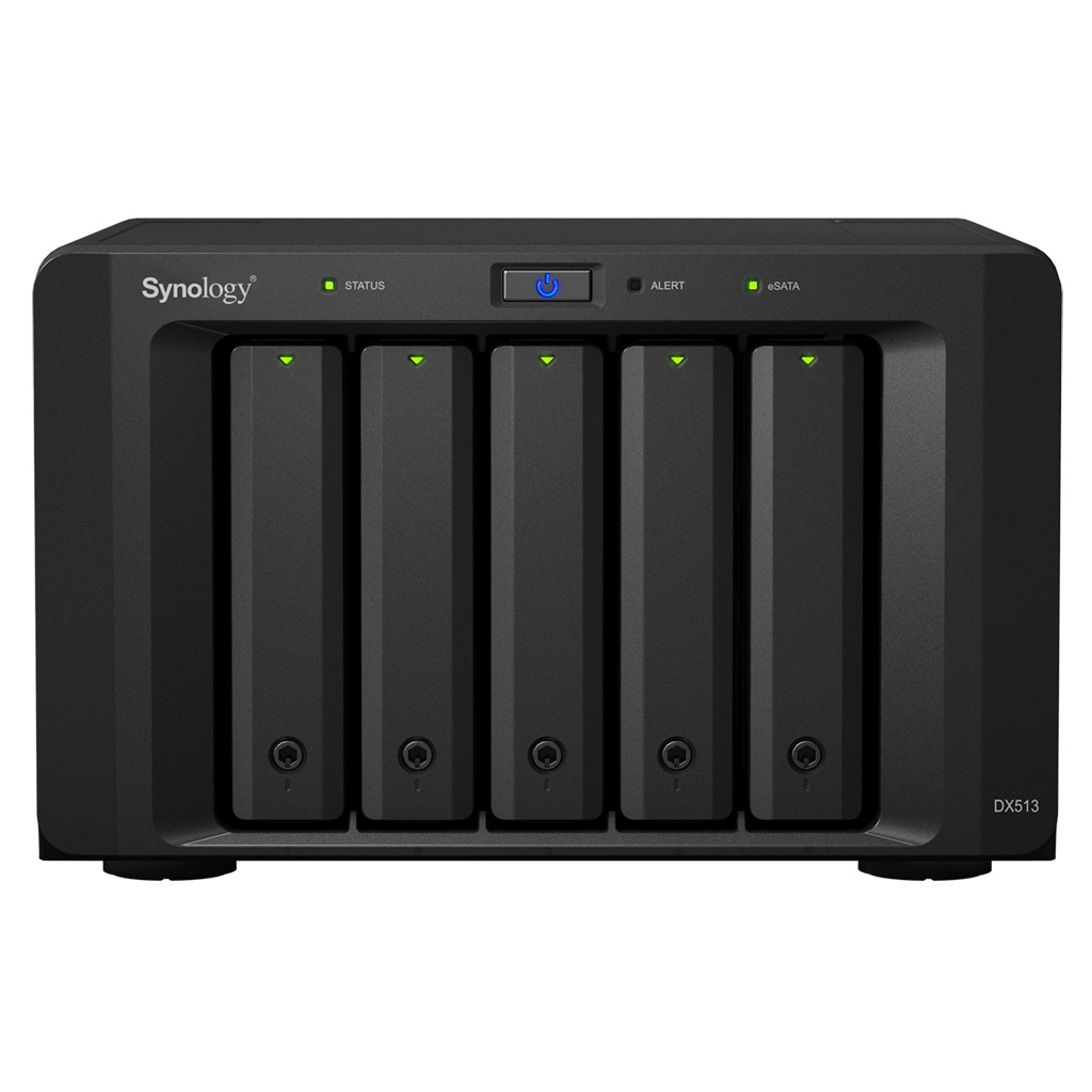 Synology DX513 40000GB Compact Black disk array