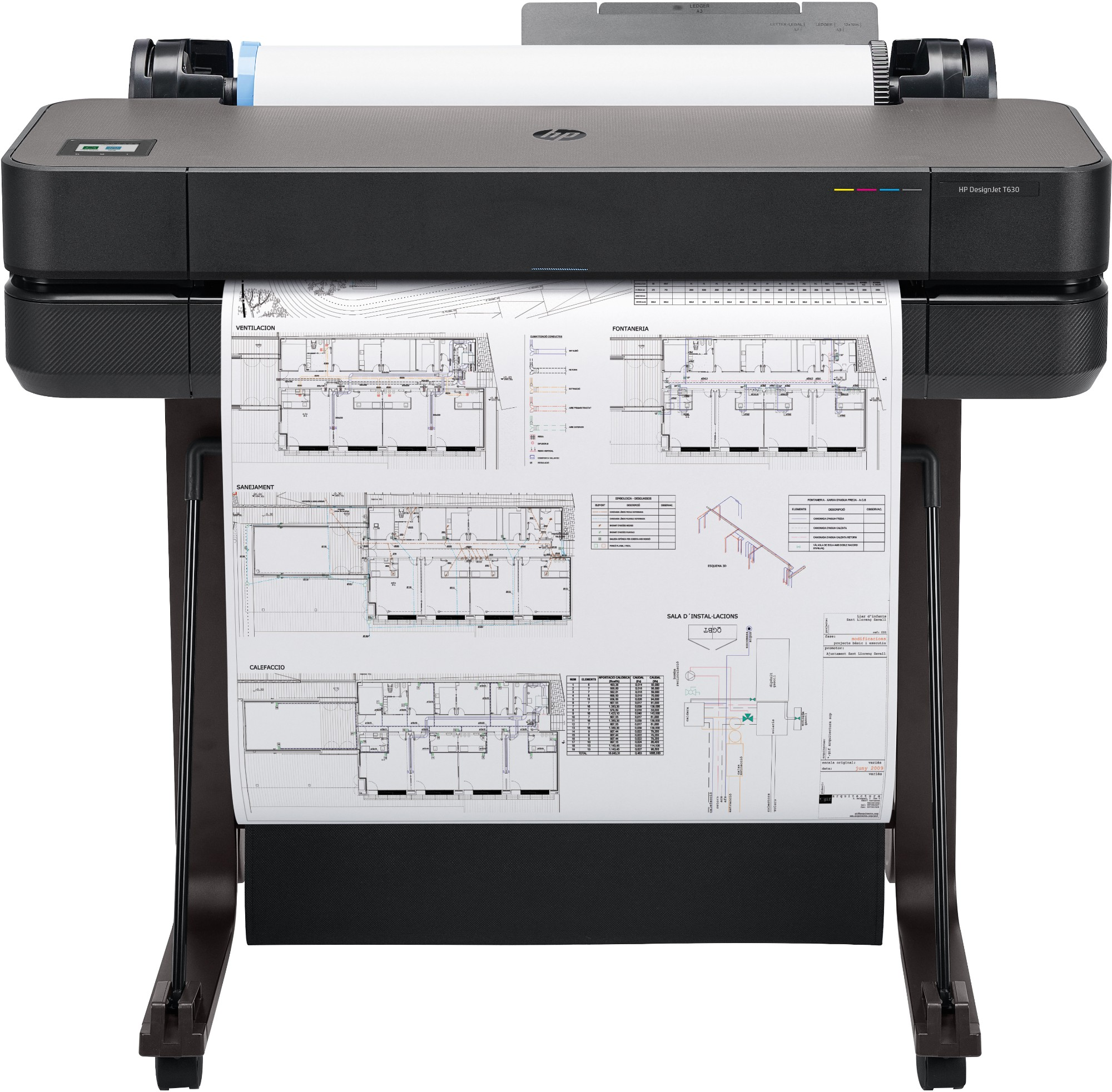 HP Designjet T630 large format printer Wi-Fi Thermal inkjet Colour 2400 x 1200 DPI 610 x 1897 mm Ethernet LAN