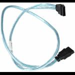 Supermicro Round SATA cable 0.55 m Black, Blue