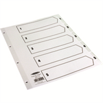 Concord INDEX 1-5 A4 CLEAR TABS CS5