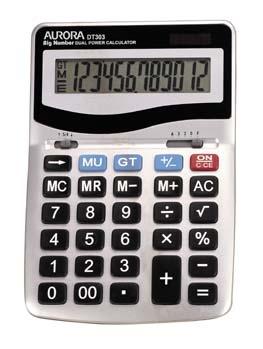 Aurora DT303 calculator Desktop Basic Silver