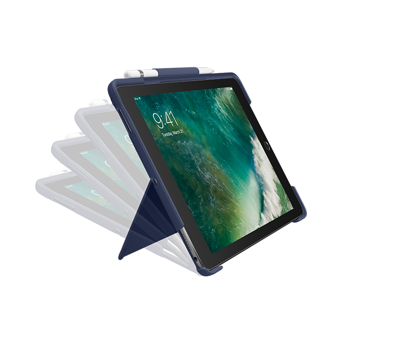 Logitech Slim Combo mobile device keyboard QWERTY Italian Blue Smart Connector
