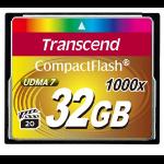 Transcend 1000x CompactFlash 32GB 32GB CompactFlash Klasse 6 flashgeheugen