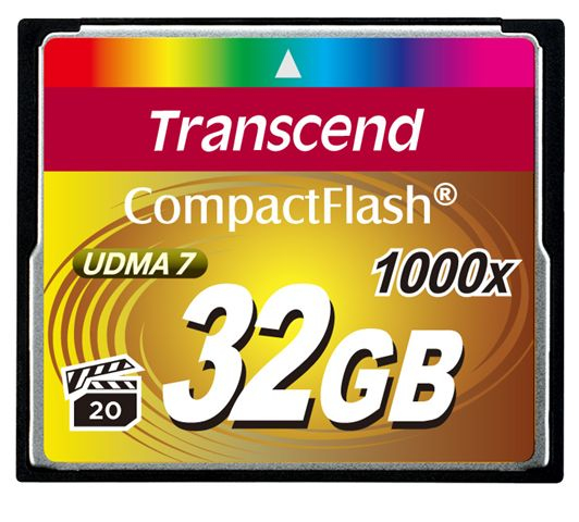 32GB Compactflash Card 1000x Up To Writespeed 160mb/s And Writespeed Up To 120mb/s