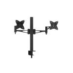 Brateck Dual Monitor Mount w/Arm & Desk Clamp Black VESA 75/100mm Up to 27''