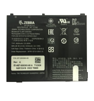 Zebra BTRY-ET5X-8IN5-01 tablet spare part Battery