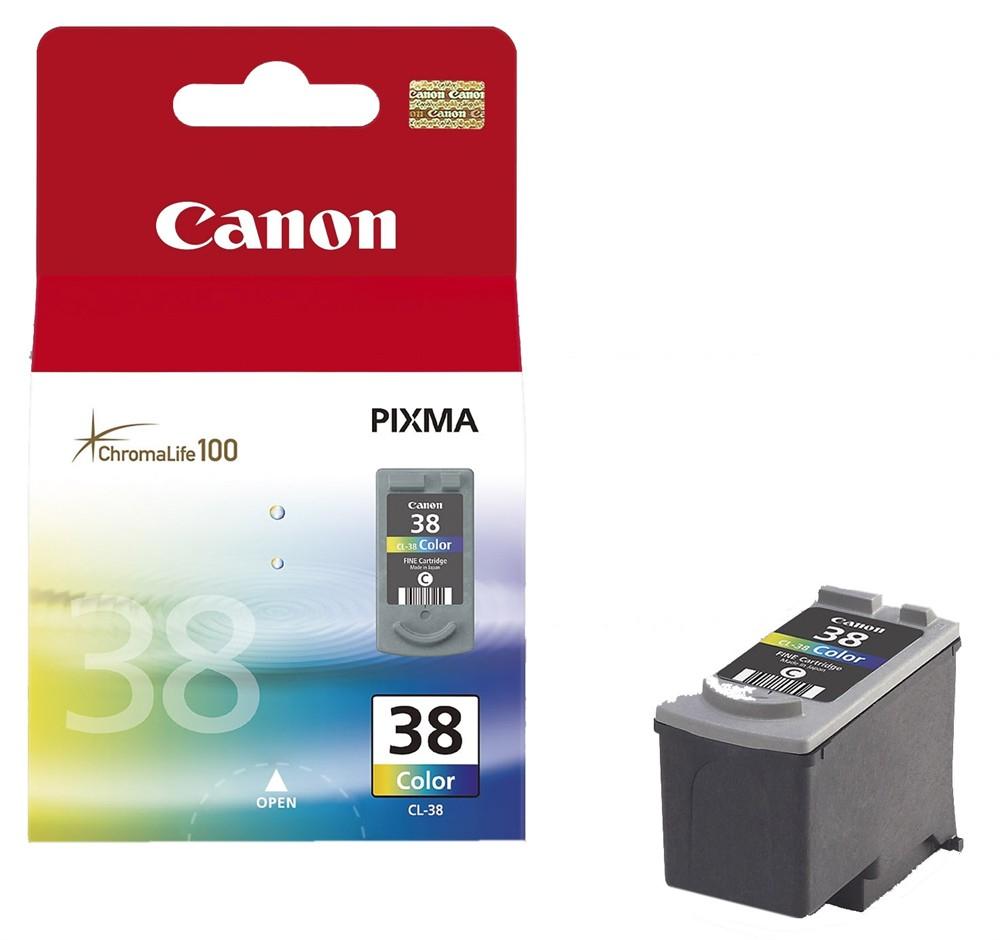 Canon CL-38 inktcartridge Original Cyaan, Magenta, Geel 1 stuk(s)
