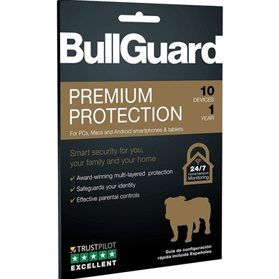 BullGuard Premium Protection 2019 1 Year/10 Device Sngle Multi Device Retail Licence English