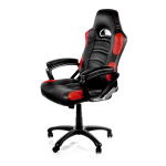 Arozzi Black & Red Enzo Adjustable Ergonomic Motorsports Inspired Desk Chair