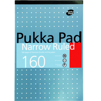 Pukka Pad Pukka Metallic Refill Pad Headbound Punched Feint Ruled 6mm Margin 160pp 80gsm A4 Ref 6253-REF [Pack