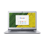 "Acer Chromebook 15 CB515-1HT-P099 Silver 39.6 cm (15.6"") 1920 x 1080 pixels Touchscreen Intel® Pentium® 4 GB LPDDR4-SDRAM 64 GB Flash Chrome OS"