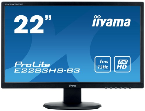 "iiyama ProLite E2283HS-B3 21.5"" Full HD LED Matt Flat Black computer monitor LED display"