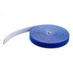 StarTech.com 25ft. Hook and Loop Roll - Blue