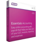 MYOB Essentials Accounting with Unlimited Payroll for PC and MAC User Online Only - 12 months Subscriptio