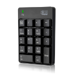 Adesso WKB-6010UB numeric keypad RF Wireless Universal Black