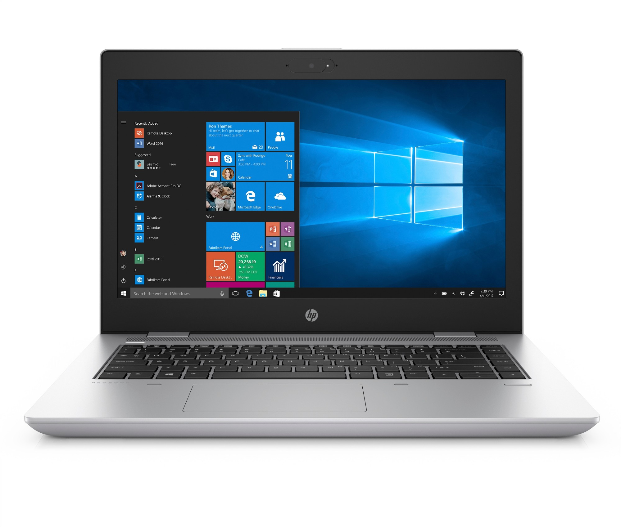 "HP ProBook 640 G4 Silver Notebook 35.6 cm (14"") 1920 x 1080 pixels Touchscreen 8th gen Intel® Core™ i5 i5-8250U 8 GB DDR4-SDRAM 256 GB SSD"