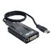 Tripp Lite USB 3.0 SuperSpeed to VGA-DVI Adapter, 512MB SDRAM - 2048x1152,1080p