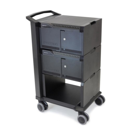 Ergotron DM32-1024-3 Tablet Multimedia trolley Black multimedia cart/stand