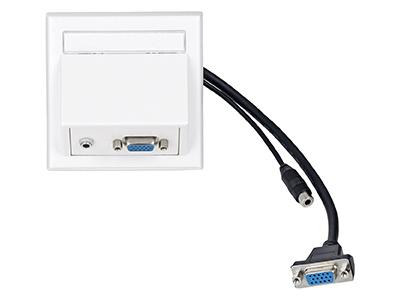 VIVOLINK WI221182 SOCKET-OUTLET VGA + 3.5 MM WHITE